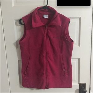 Columbia Vest Maroon Women's Large